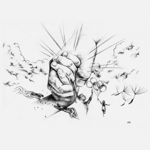 Über die Schwelle: die Hand Jesu