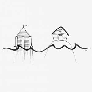 Feuerprobe: die Flut stößt an beide Häuser